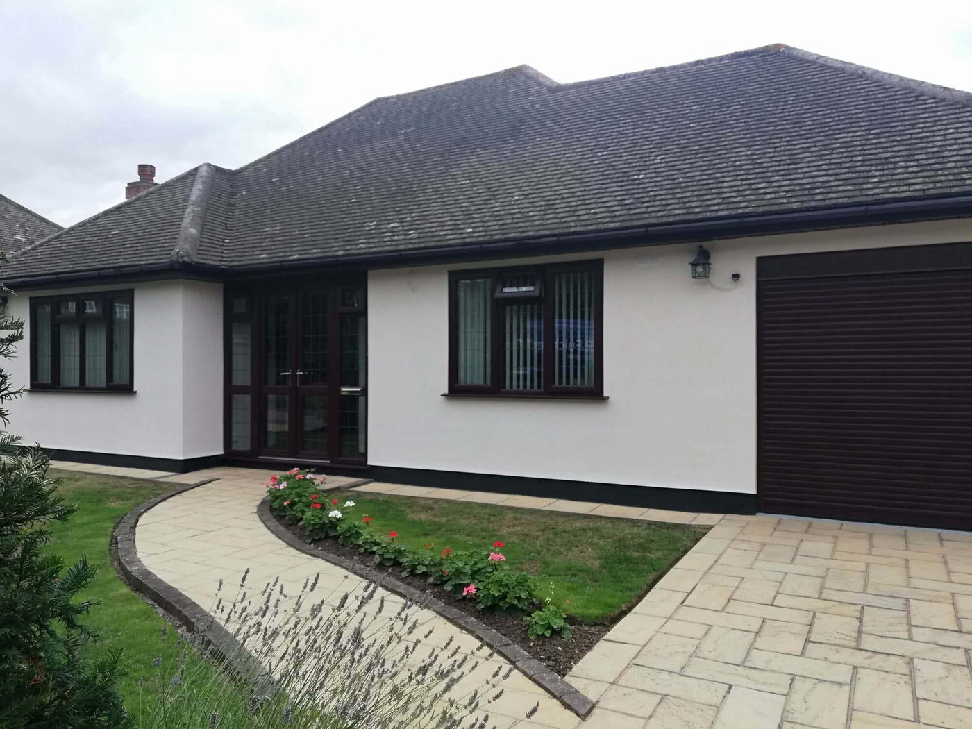 Example of a domestic rendering project completed by R. Fulcher & Sons